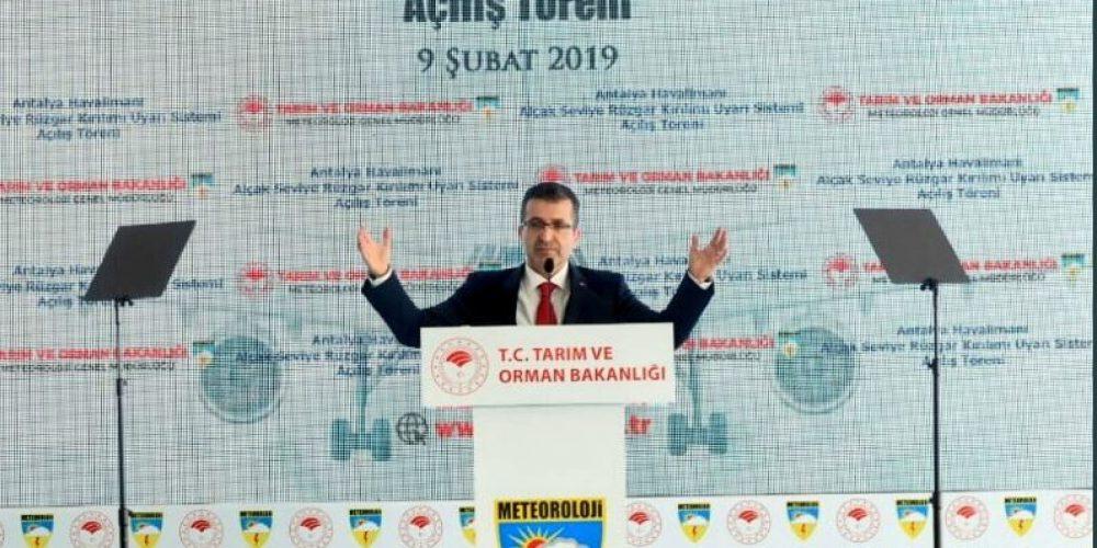 Antalya Havalimanı'nda Alçak Seviye Rüzgar Kırılımı Uyarı Sistemi açıldı.