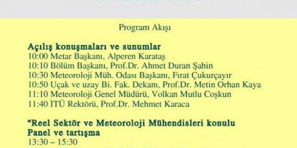 """12 ARALIKTA """" REEL SEKTÖR VE METEOROLOJİ MÜHENDİSLERİ """" ÇALIŞTAYI YAPILDI."""